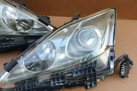 06-08 Lexus iS250 iS350 Halogen Headlight Lamps Set Left Right L&R POLISHED image 3