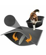 Pet Cat Litter Mat Waterproof EVA Double Layer Cat Litter Trapping Pet L... - $9.20+