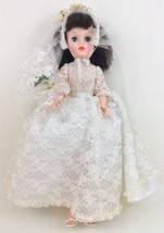 """Vintage Bride Doll Wedding 1960's 20"""" Brunette open/close blue eyes veil... - $44.50"""