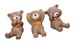 PANDA SUPERSTORE Set of 3 Unique Animal Decoration Good Gift Kids,1.6''