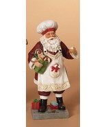 "9.5"" HAND PAINTED RESIN SANTA CHEF FIGURINE TABLE TOP CHRISTMAS HOLIDAY ... - $18.88"