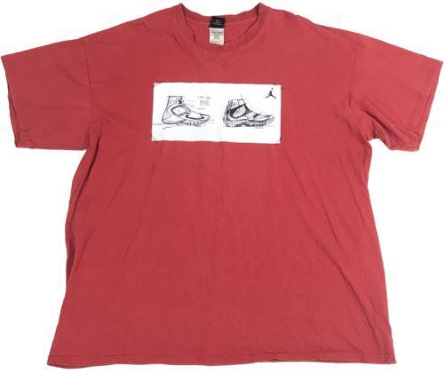 75788ded22bf 12. 12. Previous. Nike Air Jordan Mens Shirt Red Basketball Short Sleeve  Cotton Adult Size 2XL XXL