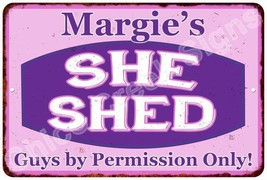 Margie's Purple & Pink SHE SHED Vintage Sign 8x12 Woman Wall Décor A8120... - $16.95+
