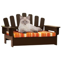 Wooden Cat Small Dog Puppy Chair Seat Couch Reversible Cushion Outdoor I... - $43.76