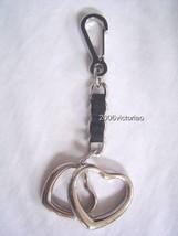 New BEBE in Silver Heart Key Fob - $25.00