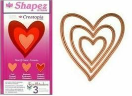 Spellbinders Shapez Xyron Creatopia Heart Dies - Set of 3 - Card Making