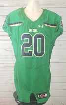Notre Dame Under Armour Game Day Football Jersey Large Green Gold Navy Blue - $268.65
