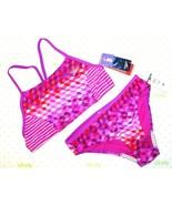 ❤️SPEEDO Electric Purple Girls size 14 Swimsuit 2 Piece Set No-Wedgie NE... - $27.54