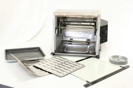 Ronco Analog Showtime Rotisserie BBQ Oven Silver FOR PARTS OVEN DOOR BROKEN - $95.00