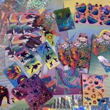 Lisa Frank Skeeter Seal Rainbow Reef Stationery & Stickers! Max Whale Dolphin image 2