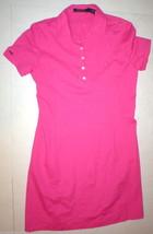 New NWT $185 Polo Golf Ralph Lauren Dress Large L Pink Symbol Short Slee... - $83.25