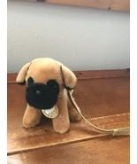 Justice Small SUPER CUTE Plush Tan Cream & Black BOXER Puppy Dog Stuffed... - $23.12