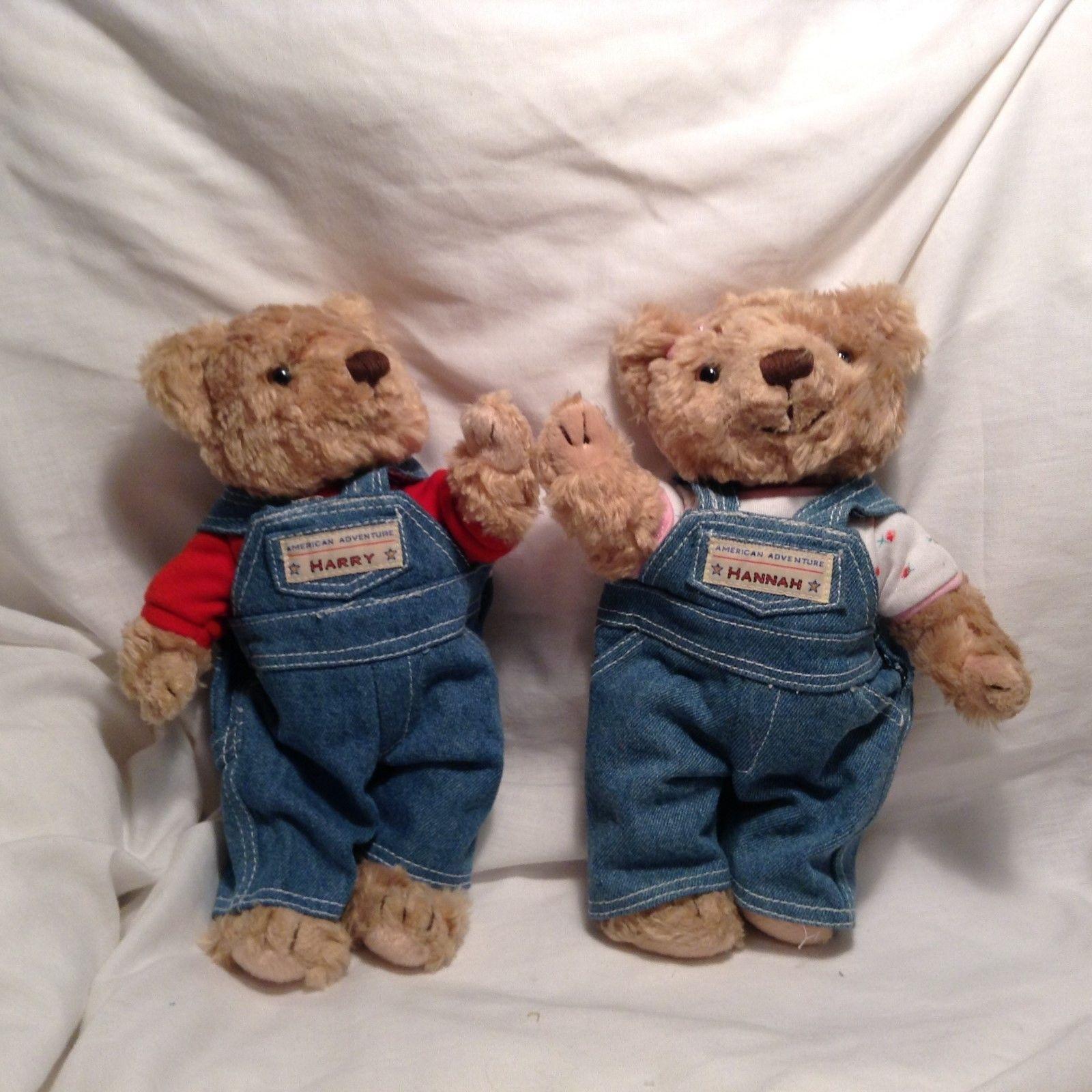 NEW American Adventure Hanna and Harry Herrington Teddy Bear