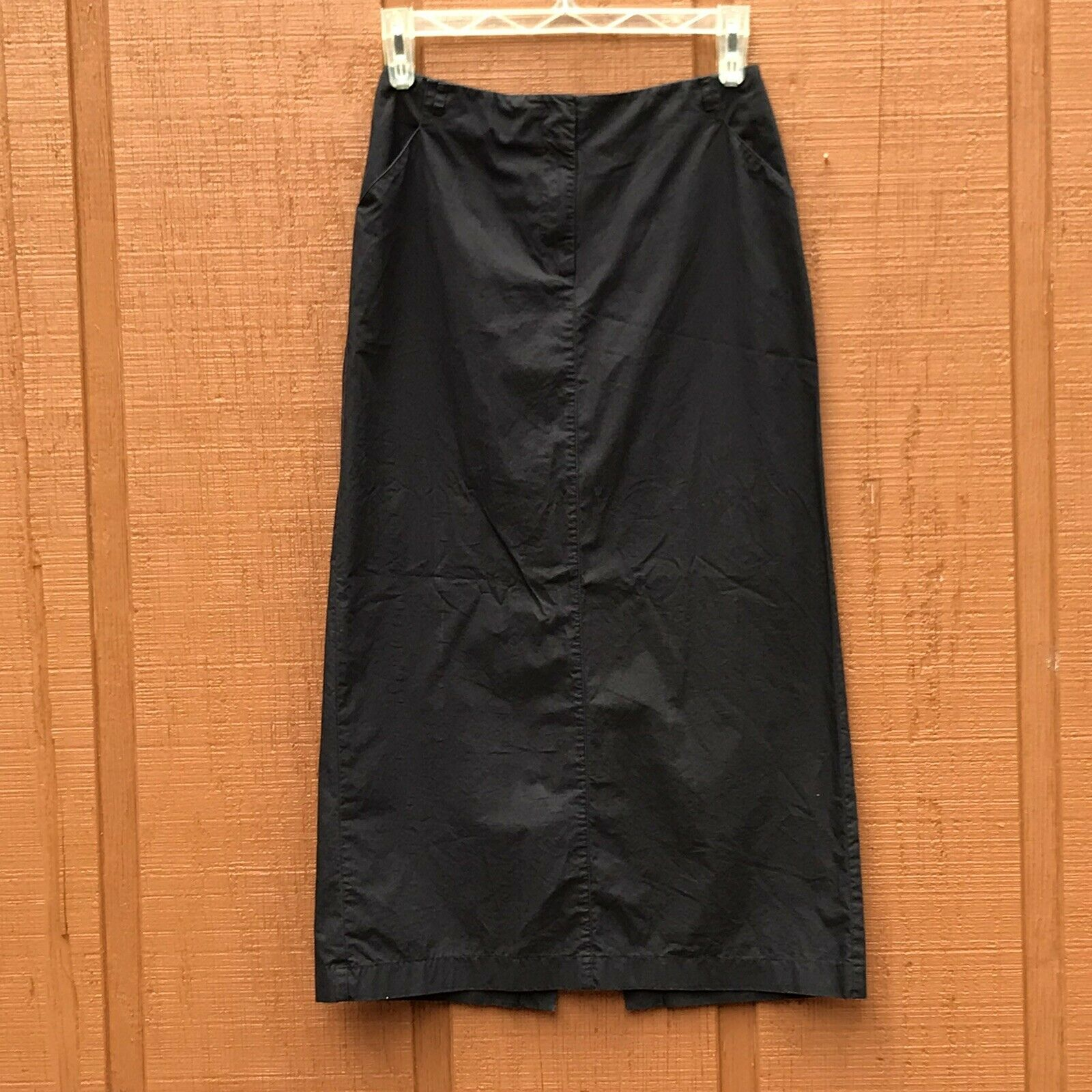 Primary image for Ann Taylor LOFT Womens Black A-Line Midi Skirt Size 8 Work Casual Modest