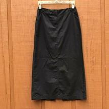 Ann Taylor LOFT Womens Black A-Line Midi Skirt Size 8 Work Casual Modest - $14.80