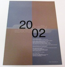 ABSOLUT DUALITY 2002 Fashion Calendar Ad Citizen K Magazine Supplement 13pp - $19.99