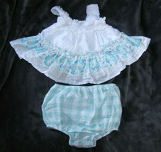 BABY GAP RUFFLY SWING TANK TOP GINGHAM PLAID BLOOMERS DIAPER COVER OUTFI... - $14.09