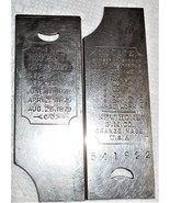 1879 Light Running New Home VS Pair Slide Plates Front & Rear Used Working - $30.00