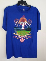 MLB Texas Rangers Baseball Field 2010 World Series Blue Graphic T Shirt ... - $9.99