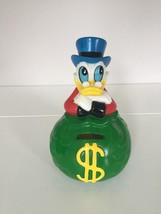 Extremely Rare! Walt Disney Scrooge McDuck Green Money Old Piggy Bank Fi... - $91.07