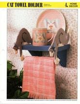 Plastic Canvas Pattern - Cat Towel Holder - Annie's Home Decor - $1.50
