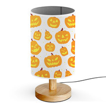 Wood Base 5W LED USB powered Desk Table Bedside Lamp-Orange Halloween Pu... - £23.12 GBP