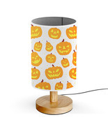 Wood Base 5W LED USB powered Desk Table Bedside Lamp-Orange Halloween Pu... - $29.95