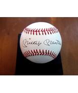 MICKEY MANTLE YANKEES HOF SIGNED AUTO GEM VTG BABE RUTH BASEBALL JSA PSA  - $1,484.99