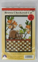 Design Works Brown Checkered Cat Counted Cross Stitch Kit 5x7 #2804 - $11.87