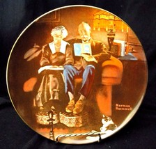 """1982 Bradford / Knowles Collectible Plate - Norman Rockwell """"Evening's Ease"""" - $9.49"""
