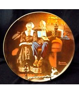 "1982 Bradford / Knowles Collectible Plate - Norman Rockwell ""Evening's E... - $9.49"