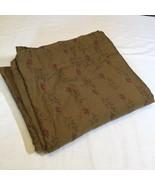 King Sized Flat Sheet Formal Garden Ralph Lauren Medieval Collection Brown - $96.74