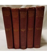 Lot of 5 Antique Complete Poetical Works Cambridge Edition Houghton Miff... - $121.20