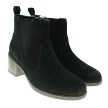 CLARKS Collection Nevella Bell Womens Black Suede Leather Comfort Ankle ... - $59.39