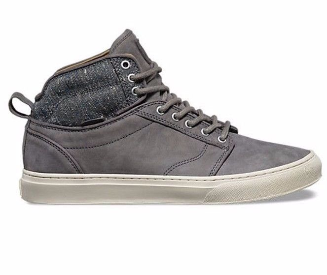 VANS Alomar (Tweed) Gray UltraCush Leather Skate Shoes MEN'S 8