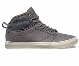 VANS Alomar (Tweed) Gray UltraCush Leather Skate Shoes MEN'S 8 image 1