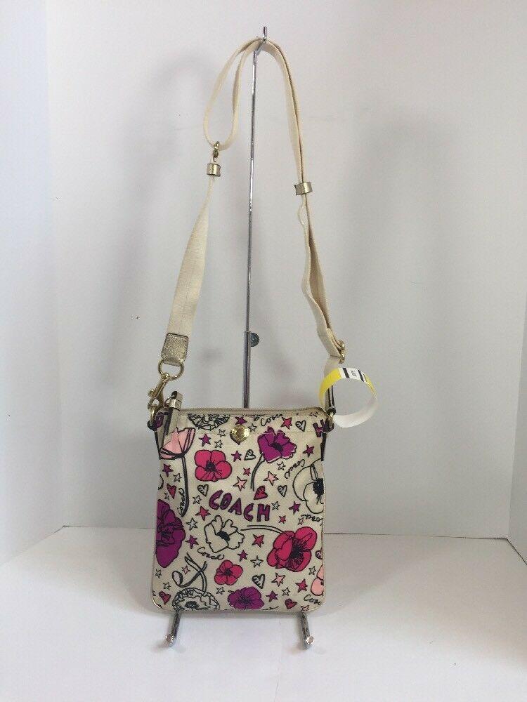 Coach Poppy Kyra Crossbody Bag Rare Floral Swingpack  Pink 47317 B5
