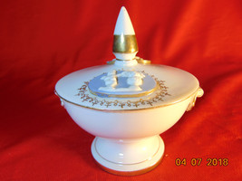 """4 1/4"""" Tall, Porcelain, Bowl with Lid, on a Pedestal, Candrea of Japan,6... - $6.99"""