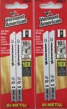 Vermont American 30063-2 U Shank 10 TPI Jig Saw Blades Swiss 2 Packs - $4.95