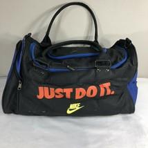 VTG Nike Gym Bag Duffle Grey Tag 90s Swoosh Air Jordan Flight Force Agas... - $39.99