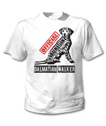 Dalmatian - official walker b - NEW COTTON WHITE TSHIRT - $19.53