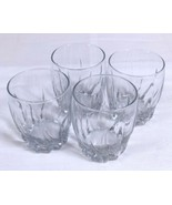 "Clear Swirled Design Cocktail Whiskey Glass LOT OF 4 - 4"" Tall - $12.73"