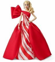 2019 Holiday BARBIE Doll NEW Size: 11.5-Inch Blonde Red / White Gown SH... - $59.99