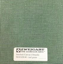 Interlock Needlepoint Canvas 18 Count Teal Green   Custom Cuts   Blank Canvas  - $7.13+