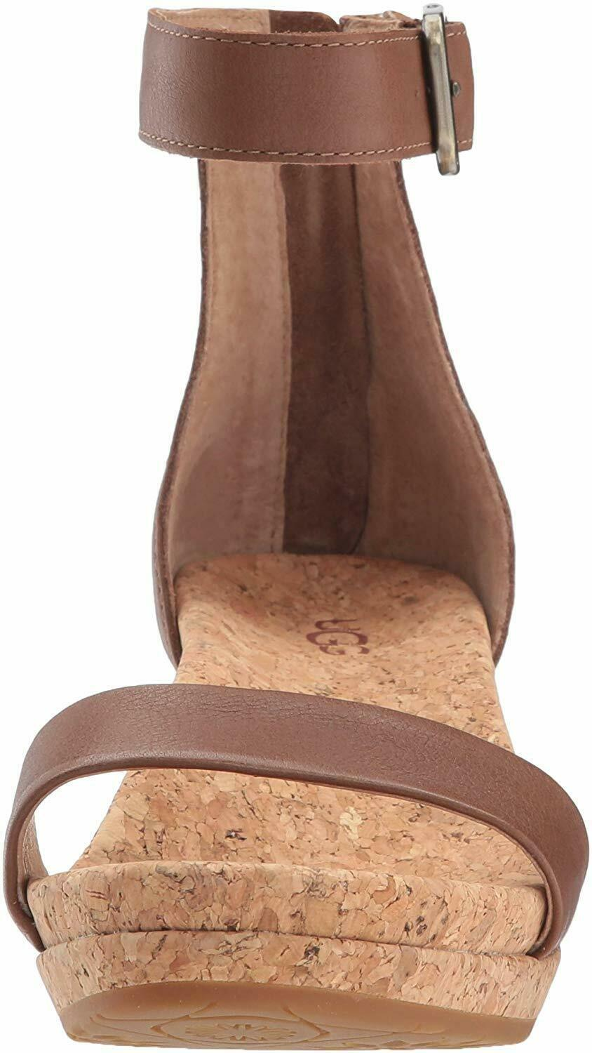 Primary image for UGG Women's Zoe Wedge Sandal, Chestnut, 6.5 M US/4.5 UK/36 EU