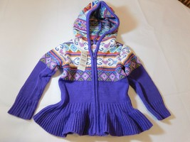 The Children's Place Baby Girls Long Sleeve Sweater Hoodie Purple Size Variation - $34.99
