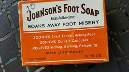 VINTAGE JOHNSON'S FOOT SOAP very old worth $30+... - $11.50