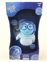 "Inside Out Blue Sadness Talking Emotion 6.5"" Doll Figure Tomy Disney Sealed - $34.60"