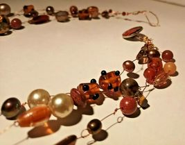 Unique 3 Strand Treasure Necklace w/ Pearls Stones Murano Glass and MUCH MORE! image 5
