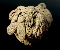 Dog Figurine Clay Spaghetti Style Handmade Sheepdog Llhasa Apso Komondor - $4.95